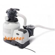Peščeni filter s črpalko za nadzemni bazen Krystal Clear sand filter unit INTEX fi 305 max pretok 6 m3/h
