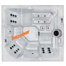 Prestižni masažni bazen Nica lite s kisikovo terapijo MicroSilk, dod. puhalom, led, Gecko k. 1000,  5 oseb