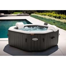 Intex Masažni bazen PureSpa™ Octagon Bubble Jet s sistemom za slano vodo napihljiv  4 - 5 Ø201x71cm