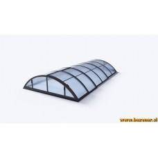 Teleskopska streha za bazen ( kupola ) Basik A 6,35x3,19m, mat, antracit